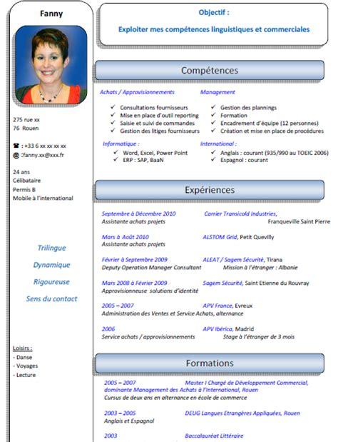 modele cv par competence mod 232 le cv par comp 233 tences