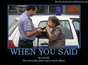 Funny Drunk Quotes to Police | WHEN YOU SAID – 'BLOW ME ...