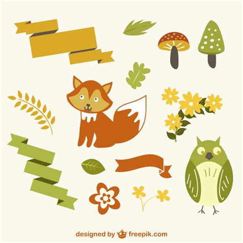 Como Descargar Plantillas De Ark Templates by Vectores Animales Del Bosque Descargar Vectores Gratis