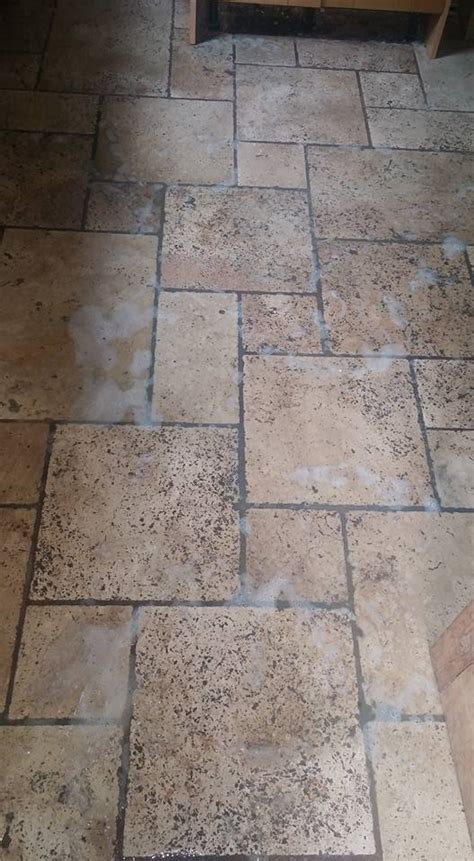 Kitchen Floor Tiles Exeter by Travertine Kitchen Tiles Burnished And Sealed In