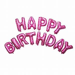 Foil Balloon HAPPY BIRTHDAY Letter Banner Party Decoration