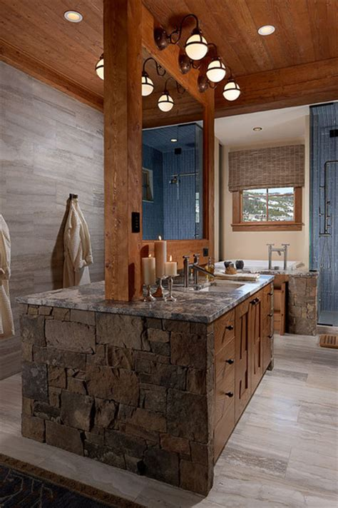 modern rustic bathroom bathroom vanity lighting