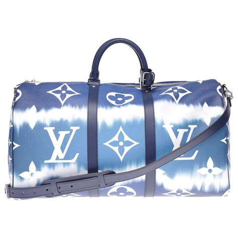 louis vuitton  serie limitee louis vuitton keepall travel bag  escale collection coated