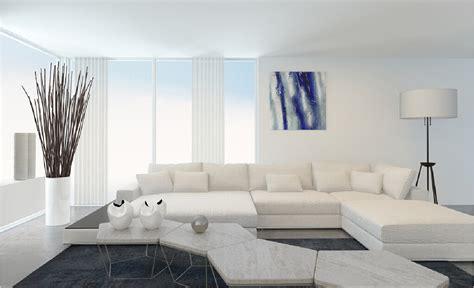 White Interior Design With Brick Pillar