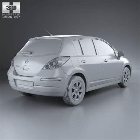 nissan tiida hatchback 2012 nissan tiida c11 hatchback 2012 3d model humster3d
