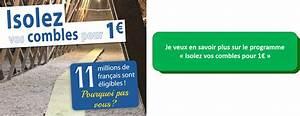 Isolation Combles à 1 : isolation de combles 1 euro id e ~ Edinachiropracticcenter.com Idées de Décoration