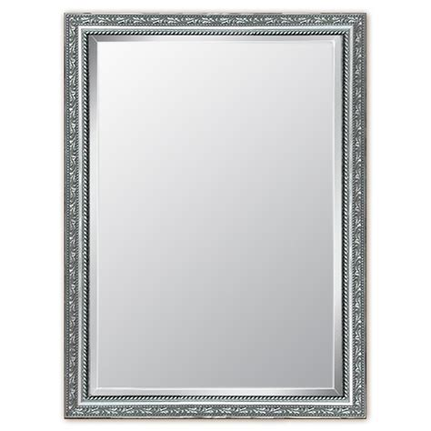 pewter kitchen shop style selections silver beveled wall mirror at lowes com