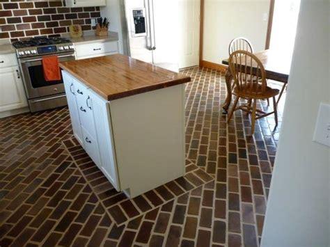 brick kitchen floors 20 kitchen designs with brick flooring 1791
