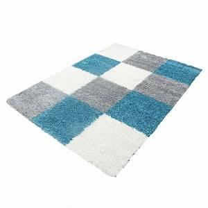 Tapis 160x230 Pas Cher : tapis shaggy bleu turquoise pas cher ~ Dailycaller-alerts.com Idées de Décoration