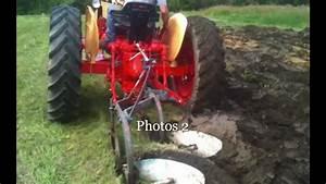 Case Tractor 630 Plowing Field