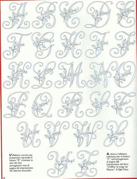 Lettere Da Ricamare by Alfabeto Cifrato Cifre E Lettere Da Ricamare