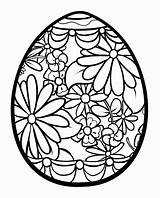 Coloring Easter Egg Clipart Detailed Clip Library sketch template