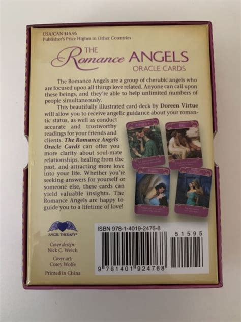 I do not claim to diagnose, treat, prevent, or cure and am not a medical or mental health professional. Doreen Virtue The Romance Angels Oracle Cards 44 Card Deck Guidebook Hay House for sale online ...
