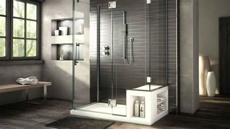 fabulously modern shower stalls  seat youtube