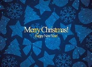 Blue Christmas Card Vector, Free Backgrounds Vectors ...