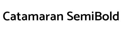Catamaran Font by Catamaran Semibold Font