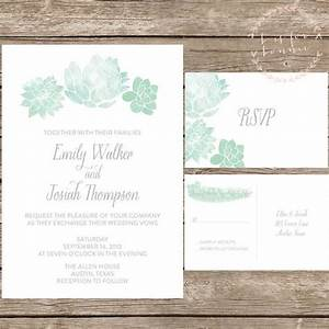 1000 ideas about succulent wedding invitations on With wedding invitations with succulents