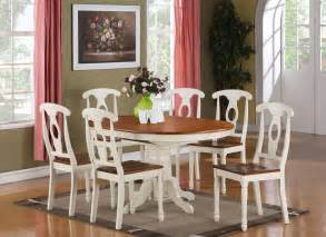 Dining Room Sets For 6 7 Dining Room Set For 6 Oval Dining Table And 6 Dining Chairs Ebay