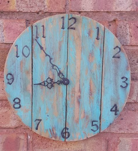 wooden clock reclaimed wood rm direct