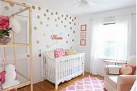 baby girl bedroom ideas Marion's Coral and Gold Polka Dot Nursery - Project Nursery