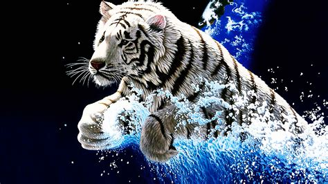 animated tiger wallpapers  wallpapers