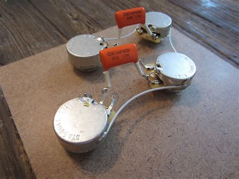 50s style les paul pre wired harness kit cts 500k reverb