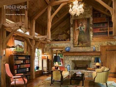 home libraries timber frame houses  libraries  pinterest
