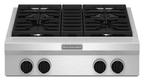 Kitchenaid Bar Appliances by Kitchenaid 30 Quot Commercial Style Gas Cooktop Kgcu407vss
