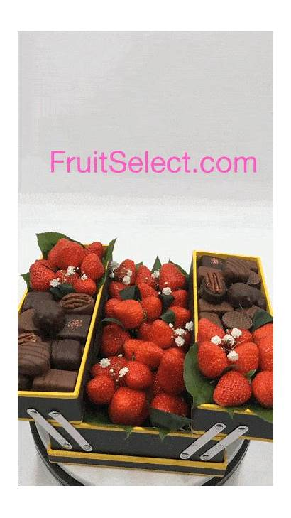 Chocolats Cadeau Fraises Fruits Fraise