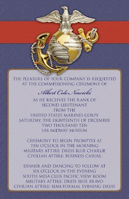 custom printables coles commissioning ceremony invitations