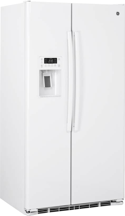 pzskgeww ge profile series  cu ft counter depth side  side refrigerator white