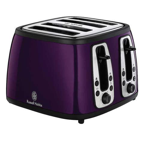 hobbs toaster purple purple toaster hobbs heritage 4 slice purple