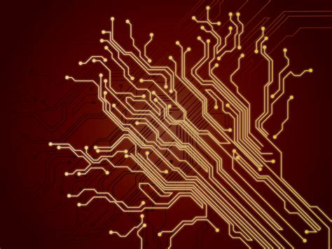 Cool Computer Background Pictures Chip Wires Backgrounds 3d Black Colors Red Technology Templates Free Ppt Backgrounds And