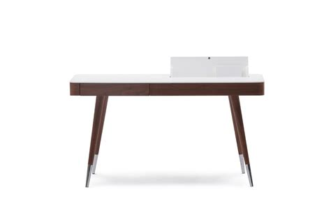 white and wood desk brown wood veneer office desk with matte white top