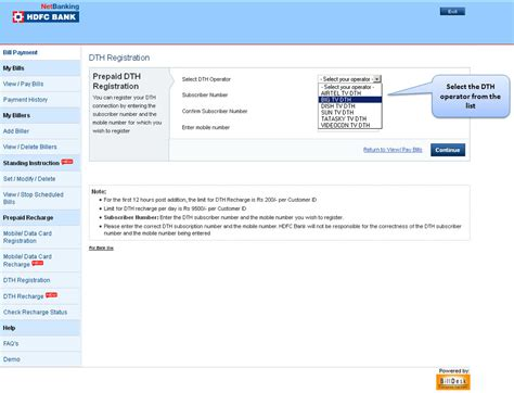 hdfc bill deskcom hdfc bank billpay plus demo