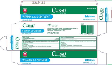 ointment vitamin curad otc medline industries inc panel
