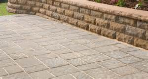 regular blocks and sitting wall garden patio ideas
