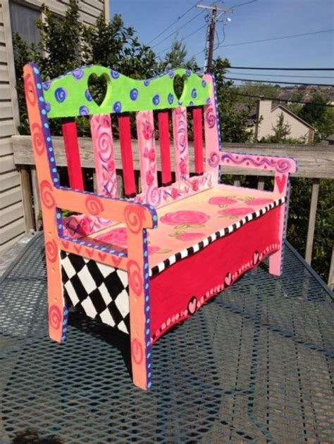 Funky Benches by 25 Best Ideas About Painted Benches On