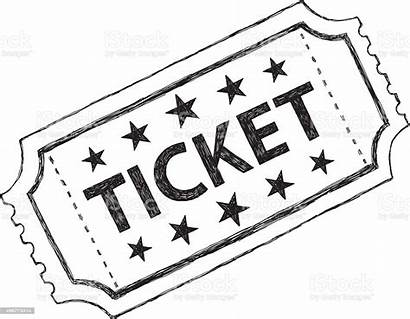 Ticket Tickets Movie Doodle Clip Clipart Sketch