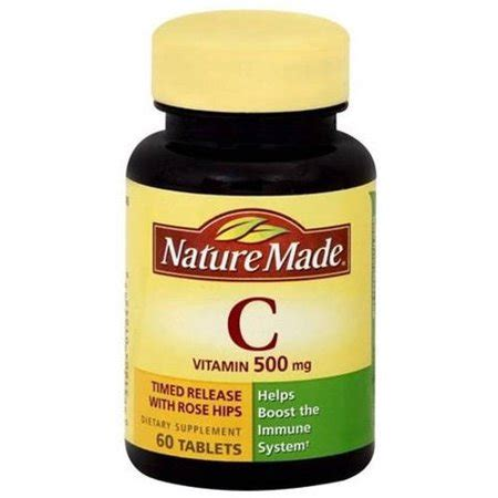 Nature Made Vit C Rose Hip Tr 500 Mg, 60 Ct (pack Of 3