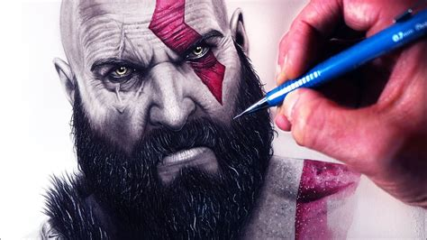 Lets Draw Kratos God Of War Fan Art Friday Youtube