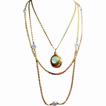 Goldette Chain Victorian Multiple Fob Necklace Revival