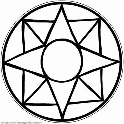 Mandala Coloring Easy Printable Square Mosaic Patterns