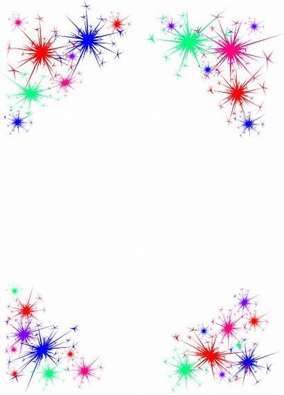 Clip Clipart Fireworks Celebration Celebrate Border Transparent