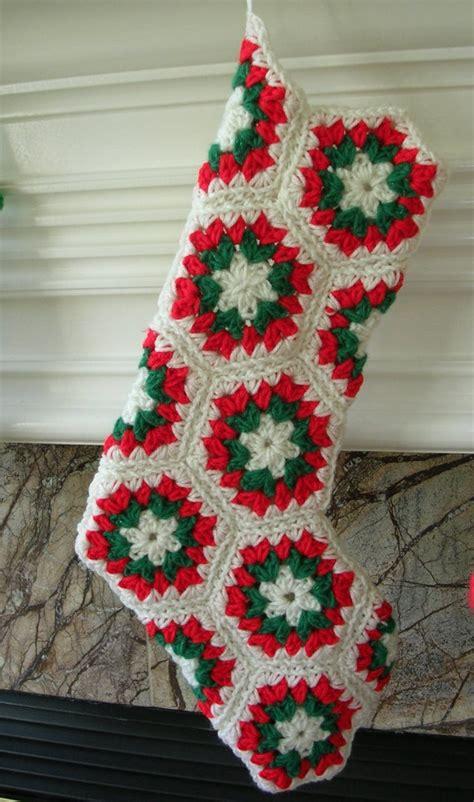 christmas stocking crochet hexagon pattern