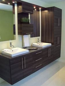 Salle De Bain Contemporaine : 12 best salles de bains images on pinterest ~ Dailycaller-alerts.com Idées de Décoration