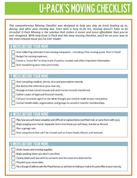 moving checklist templates   word excel formats