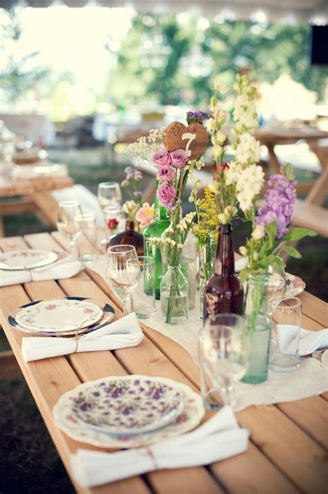 Rustic Wedding Table Decoration Ideas Rustic