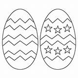 Easter Egg Pages Coloring Printable Colouring sketch template