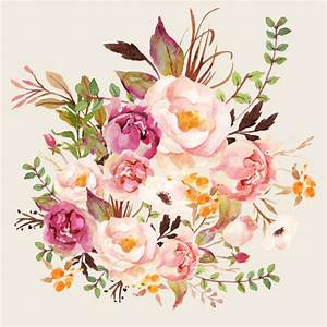 Boho Vintage Floral Pastel - Pink fabric - shopcabin ...